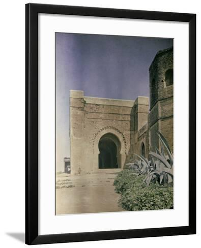 The Gate at the Walls of the Kasbah of Oudaia in Rabat, Marocco-Henrie Chouanard-Framed Art Print