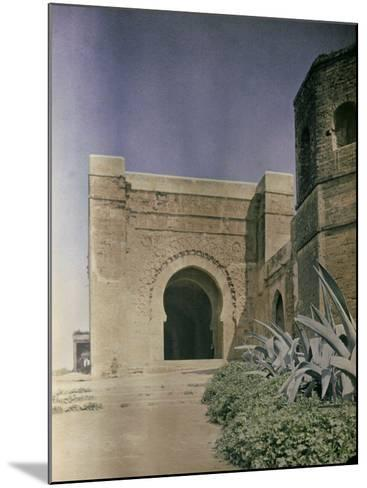 The Gate at the Walls of the Kasbah of Oudaia in Rabat, Marocco-Henrie Chouanard-Mounted Photographic Print