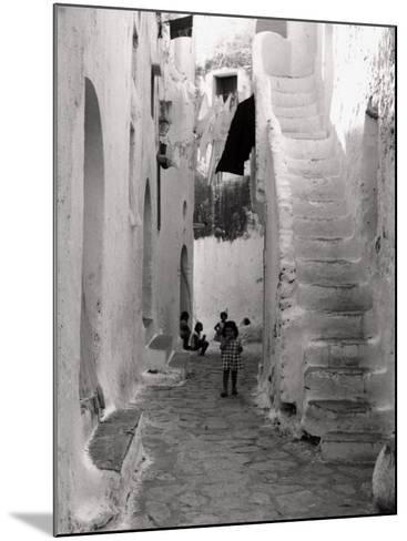 Kids in a Street of Sperlonga--Mounted Photographic Print