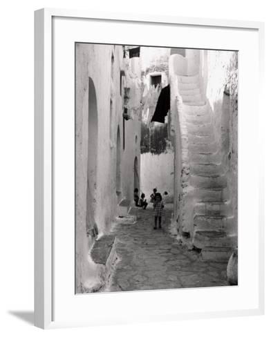 Kids in a Street of Sperlonga--Framed Art Print