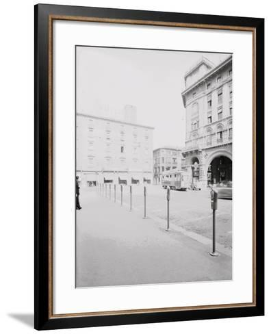 Parking Meters in Piazza Re Enzo in Bologna-A^ Villani-Framed Art Print