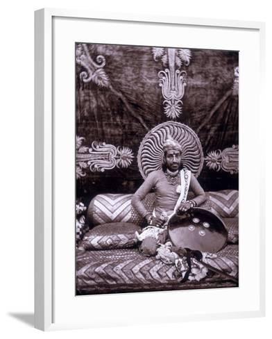 Self-Portrait of the Maharajah Ram Singh III, in the Royal Palace of Jaipur, India--Framed Art Print