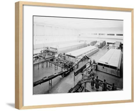 The Bottling Department at the Peroni Factory in Naples-A^ Villani-Framed Art Print