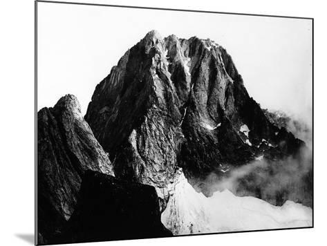 View of the Peak of Pizzo Badile in Val Masino, Sondrio--Mounted Photographic Print