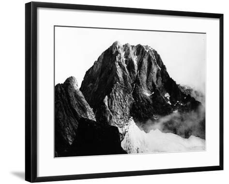 View of the Peak of Pizzo Badile in Val Masino, Sondrio--Framed Art Print
