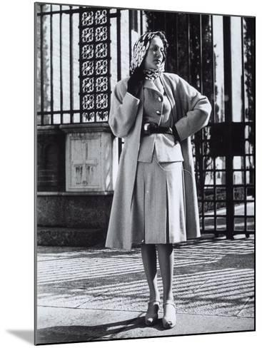 Model Wearing a Suit and Wool Coat by Sartoria Moretti-A^ Villani-Mounted Photographic Print