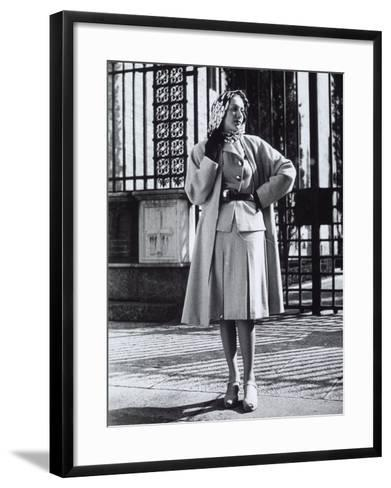 Model Wearing a Suit and Wool Coat by Sartoria Moretti-A^ Villani-Framed Art Print