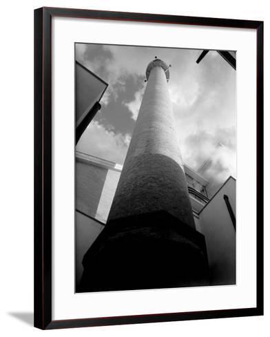 Smokestack of the Peroni Factory in Naples-A^ Villani-Framed Art Print