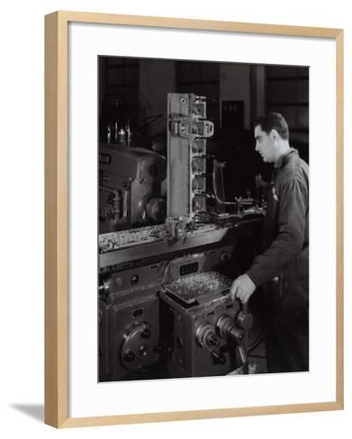 Ferrari Factory, a Worker Monitoring Machinery-A^ Villani-Framed Art Print