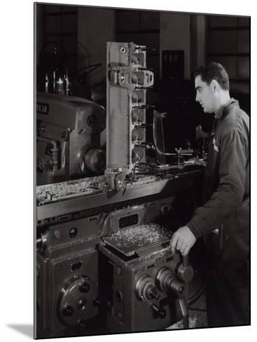 Ferrari Factory, a Worker Monitoring Machinery-A^ Villani-Mounted Photographic Print