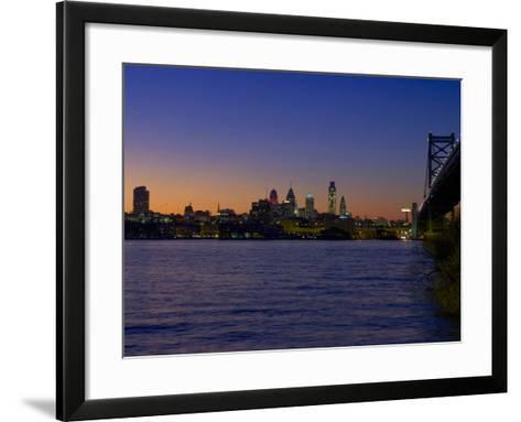 Philadelphia Skyline at Dusk-James Shive-Framed Art Print