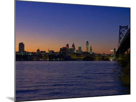 Philadelphia Skyline at Dusk-James Shive-Mounted Photographic Print