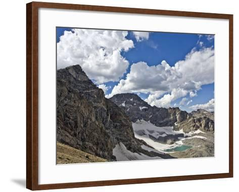 Peaks and Frozen Lakes in the High Country of Indian Peaks Wilderness, Colorado-Andrew R. Slaton-Framed Art Print