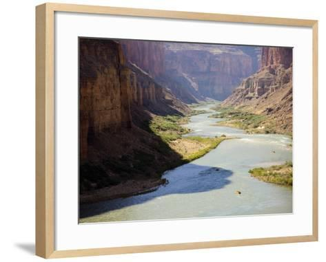 View from Nankoweap Overlook While Rafting the Grand Canyon. Grand Canyon National Park, Az.-Justin Bailie-Framed Art Print