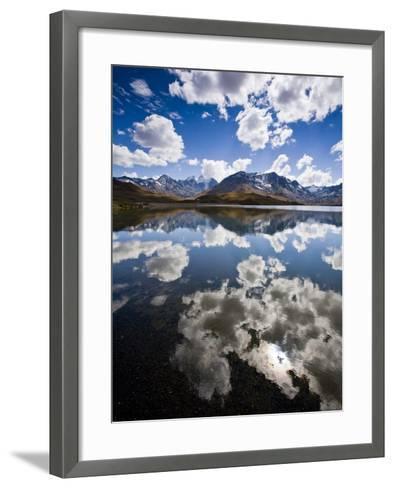Reflections of Mt. Tuni Condoriri in the Cordillera Real, Bolivi-Sergio Ballivian-Framed Art Print