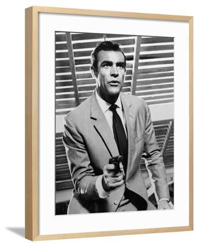 """Sean Connery. """"Doctor No"""" 1962, """"Dr. No"""" Directed by Terence Young--Framed Art Print"""