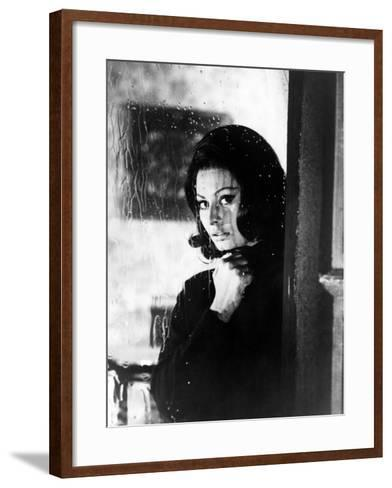 """Sophia Loren. """"The Great Spy Mission"""" 1965, """"Op?ration Crossbow"""" Directed by Michael Anderson--Framed Art Print"""