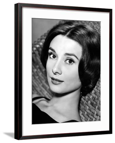 """Audrey Hepburn. """"Love In the Afternoon"""" 1957, Directed by Billy Wilder--Framed Art Print"""