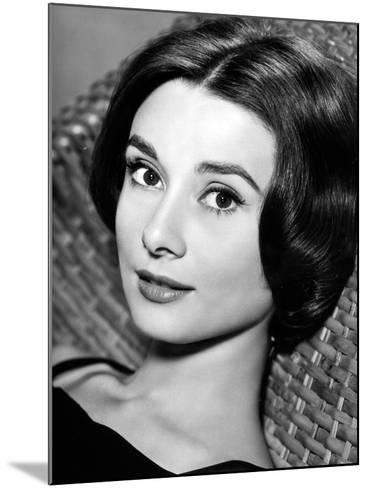 """Audrey Hepburn. """"Love In the Afternoon"""" 1957, Directed by Billy Wilder--Mounted Photographic Print"""