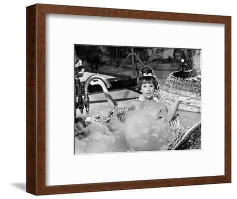 "Audrey Hepburn. ""Together In Paris"" 1964, ""Paris-when It Sizzles"" Directed by Richard Quine--Framed Art Print"