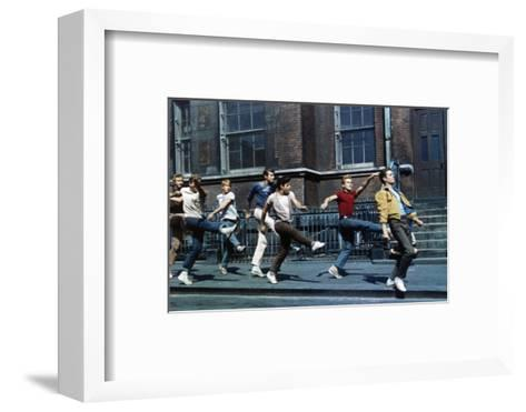 """Russ Tamblyn, Tony Mordente. """"West Side Story"""" 1961, Directed by Robert Wise--Framed Art Print"""