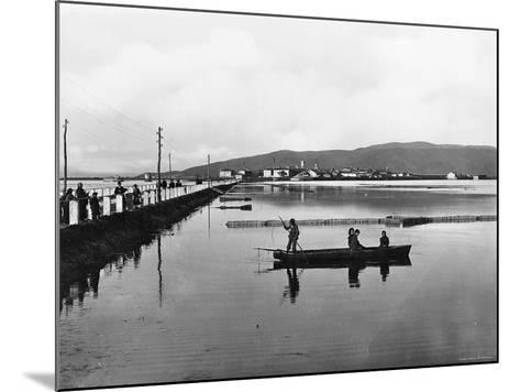 Orbetello. Panorama with the Dam--Mounted Photographic Print