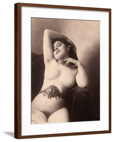 Portrait of a Nude Woman with a Belt--Framed Art Print