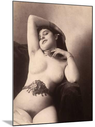 Portrait of a Nude Woman with a Belt--Mounted Photographic Print