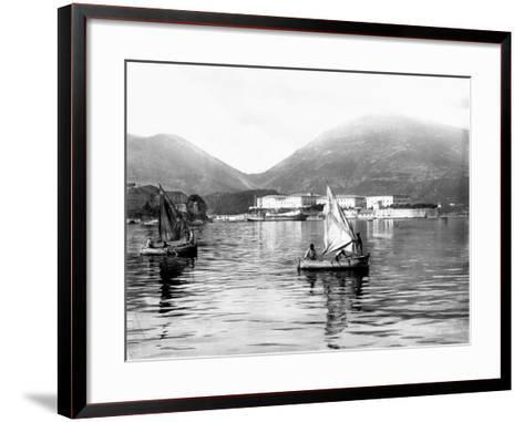 View of the Gulf of La Spezia--Framed Art Print