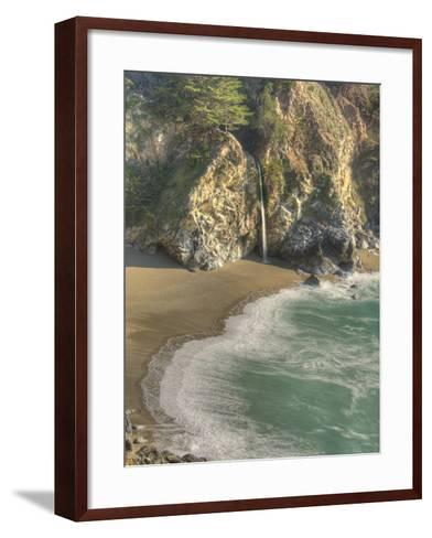 Mcway Falls at Julia Pfeiffer Burns State Park on the Big Sur Coast of California-Kyle Hammons-Framed Art Print