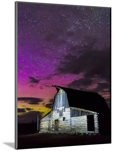 Northern Lights Above Moulton Barn-Mike Cavaroc-Mounted Photographic Print