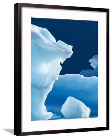 Icebergs Floating in Alsek Lake. Glacier Bay National Park, Ak.-Justin Bailie-Framed Art Print
