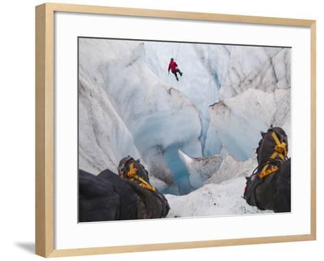 Ice Climbing-Ethan Welty-Framed Art Print