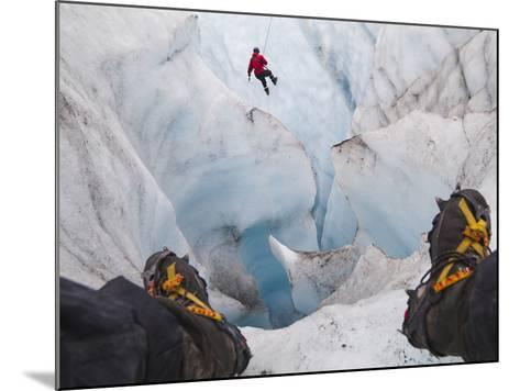 Ice Climbing-Ethan Welty-Mounted Photographic Print