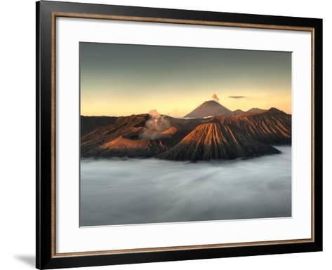 Bromo-Tengger-Semeru National Park on the Island of Java in Indonesia-Kyle Hammons-Framed Art Print