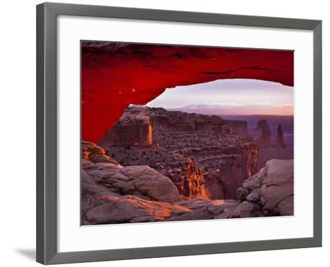 Mesa Arch in Canyonlands National Park-Mike Cavaroc-Framed Art Print