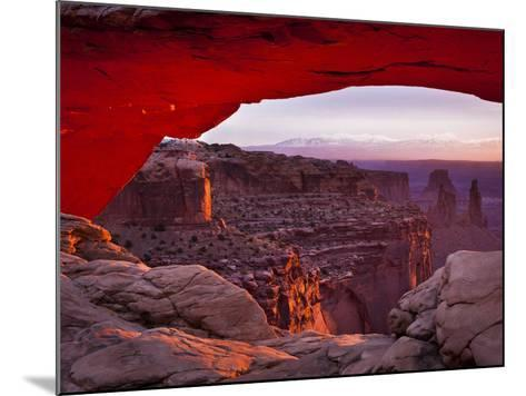 Mesa Arch in Canyonlands National Park-Mike Cavaroc-Mounted Photographic Print