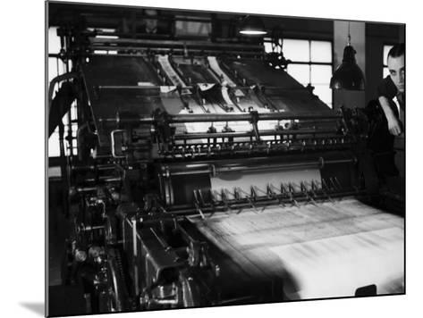 Rotary Press in the Newspaper Printing Facility of the Daily Il Resto Del Carlino of Bologna-A^ Villani-Mounted Photographic Print