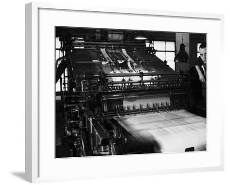 Rotary Press in the Newspaper Printing Facility of the Daily Il Resto Del Carlino of Bologna-A^ Villani-Framed Art Print