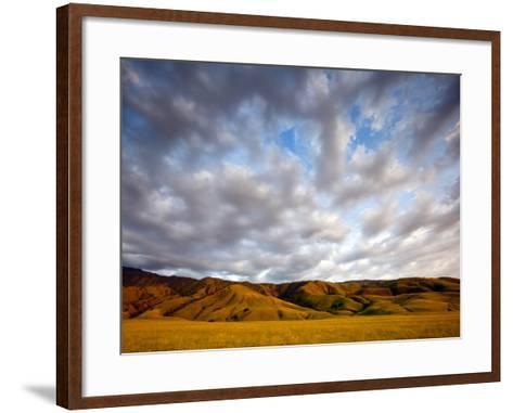 Near Caliente, California: Sunset on the Northern Most Edge of the Tejon Ranch at Sunset.-Ian Shive-Framed Art Print