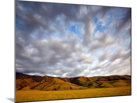 Near Caliente, California: Sunset on the Northern Most Edge of the Tejon Ranch at Sunset.-Ian Shive-Mounted Photographic Print