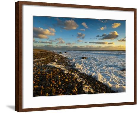 Sunset Along Moshup Beach, Martha's Vineyard with View of Ocean-James Shive-Framed Art Print