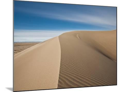 Great Sand Dunes, Co: a Sandy Ridge Line Vanishes into the Horizon-Brad Beck-Mounted Photographic Print