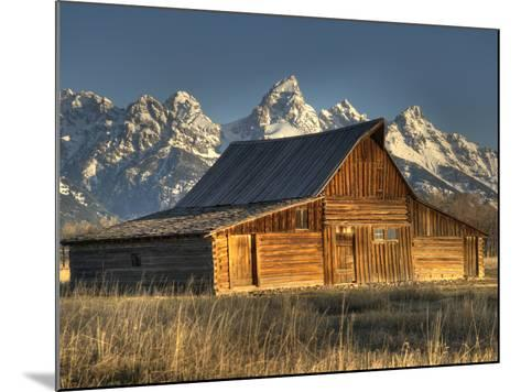 Sunrise at the Mormon Row Barn in Wyoming's Grand Teton National Park-Kyle Hammons-Mounted Photographic Print