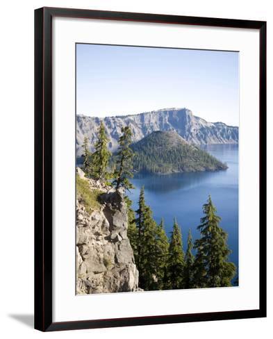 Scenic Image of Crater Lake National Park, Or.-Justin Bailie-Framed Art Print