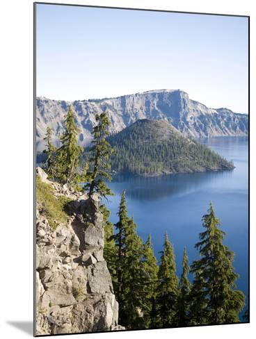 Scenic Image of Crater Lake National Park, Or.-Justin Bailie-Mounted Photographic Print