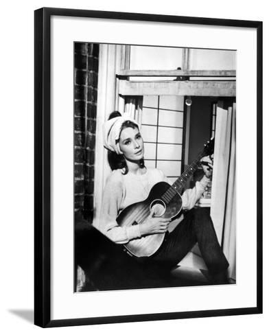 "Audrey Hepburn. ""Breakfast At Tiffany's"" 1961, Directed by Blake Edwards--Framed Art Print"