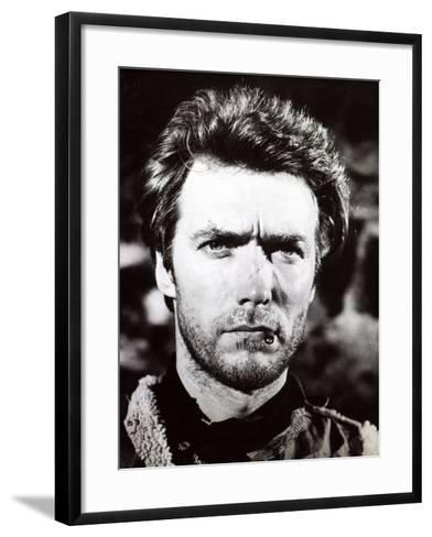 "Clint Eastwood. ""A Fistful of Dollars"" 1964, ""Per Un Pugno Di Dollari"" Directed by Sergio Leone--Framed Art Print"