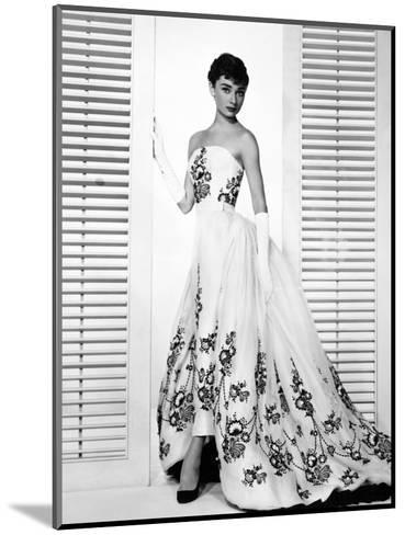 """Audrey Hepburn. """"Sabrina Fair"""" 1954, """"Sabrina"""" Directed by Billy Wilder. Custome by Edith Head--Mounted Photographic Print"""