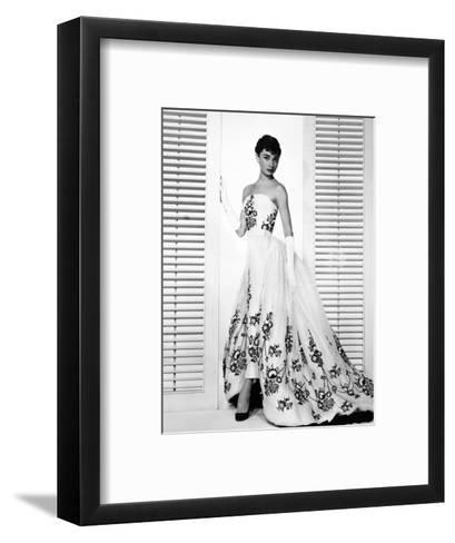 "Audrey Hepburn. ""Sabrina Fair"" 1954, ""Sabrina"" Directed by Billy Wilder. Custome by Edith Head--Framed Art Print"